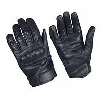 Тактичні рукавички шкіряні, з кастетами. Mil-Tec, Німеччина. (Black), фото 1