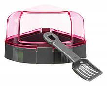 Угловой туалет с лопаткой для грызунов Trixie розовый 14х8х11 см