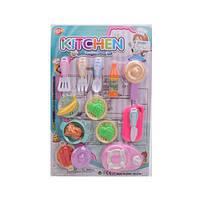 Посуда X769-1 60шт) сковородка,кастрюля,кухонный набор,продукты,на листе, 34-49-4см