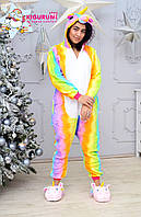 Кигуруми пижама радужный единорог