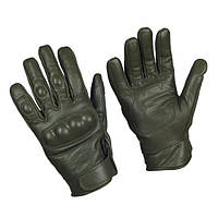 Тактичні рукавички шкіряні, з кастетами. Mil-Tec, Німеччина. (Olive), фото 1