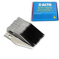 100x Лезвие для макетного модельного ножа скальпеля X-Acto №11 (FD0055)