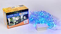 Гирлянда внутренняя DELUX ICICLE С 100LED 3,2х0,7m синий/прозрачный IP20