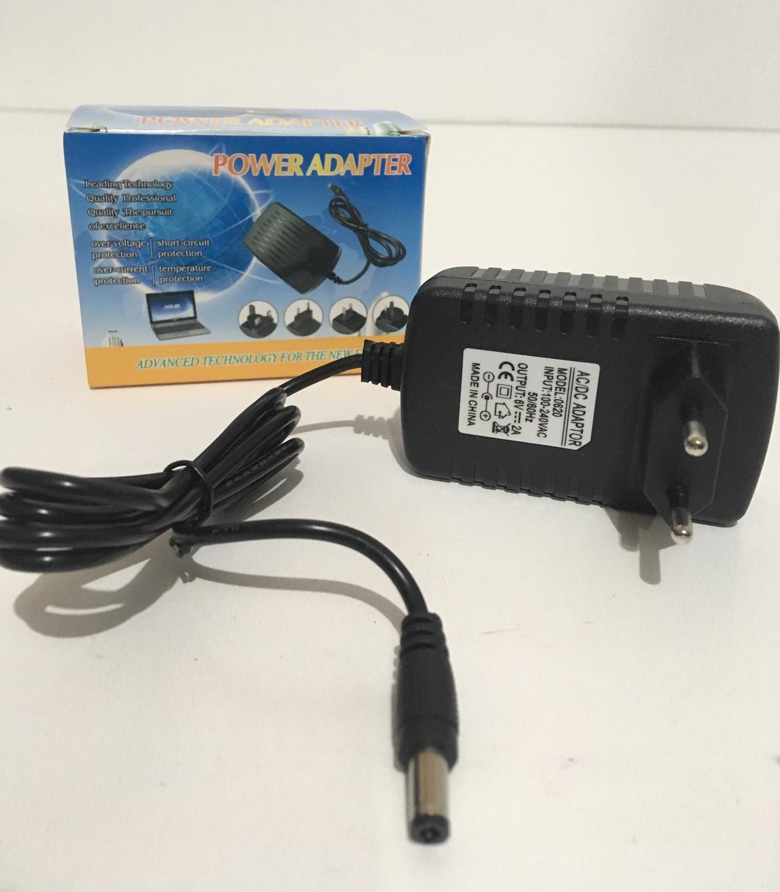 Сетевое зарядное устройство EU-088B/ 5497/  6V-2A/5.5 (200 шт/ящ)