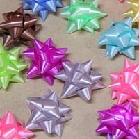 Бант для подарочной упаковки Bow 4см, в упаковке 36шт, разные цвета, полиэстер, лента, бант, новогодние банты, упаковочный бантик