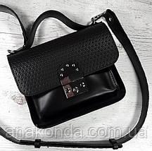 571-к Сумка женская натуральная кожа, кросс-боди с широким ремнем черная кофейная на широком ремне сумка кожа, фото 3