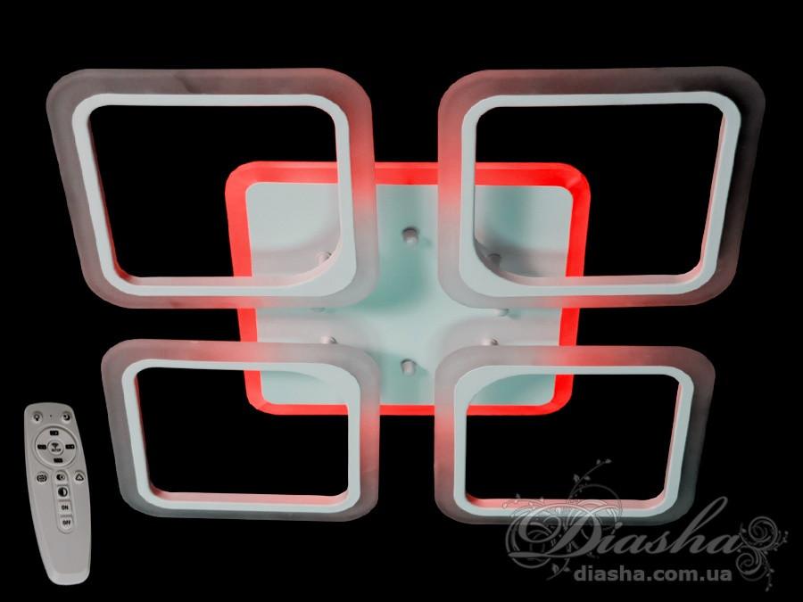 ЛЮСТРЫ ПОТОЛОЧНЫЕ СВЕТОДИОДНЫЕ&A8060/4WH LED 3color dimmer