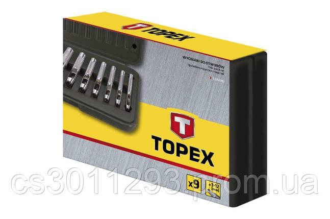 Набор просечек Topex - 9 шт. (3-12 мм), фото 2