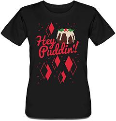 Женская футболка Hey Puddin'! (чёрная)
