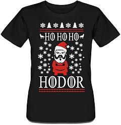 Женская футболка Game Of Thrones - Ho Ho Ho Hodor (чёрная)