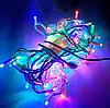 Уличная светодиодная гирлянда 10м 100LED, цветная IP65