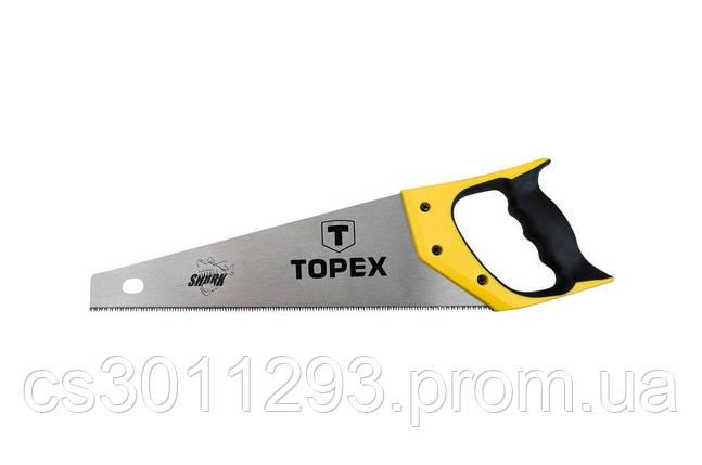 """Ножовка по дереву Topex - 500 мм, 7T х 1"""", тройная заточка Shark, фото 2"""