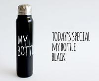 Термос My bottle в подарочном тубусе. Распродажа Черный