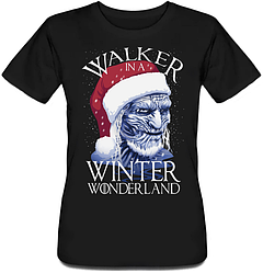 Женская футболка Game Of Thrones - Walker In A Winter Wonderland (чёрная)