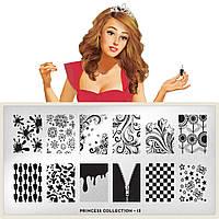 Пластина для стемпинга MoYou London Princess 13
