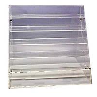 Полочки для лака Fuchsia, бесцветный, пластиковый,  24 шт, органайзер для хранения косметики, полочка под лаки, полочка для кабинета маникюра