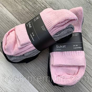 Носки женские х/б махровая стопа House, Финляндия-Турция, размер 34-36, ассорти, 01232