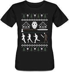 Женская футболка Camp Crystal Lake (чёрная)