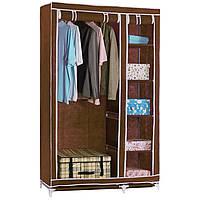 Тканевый шкаф-органайзер для вещей Storage Wardrobe HCX 88105 brown 105*45*175 см