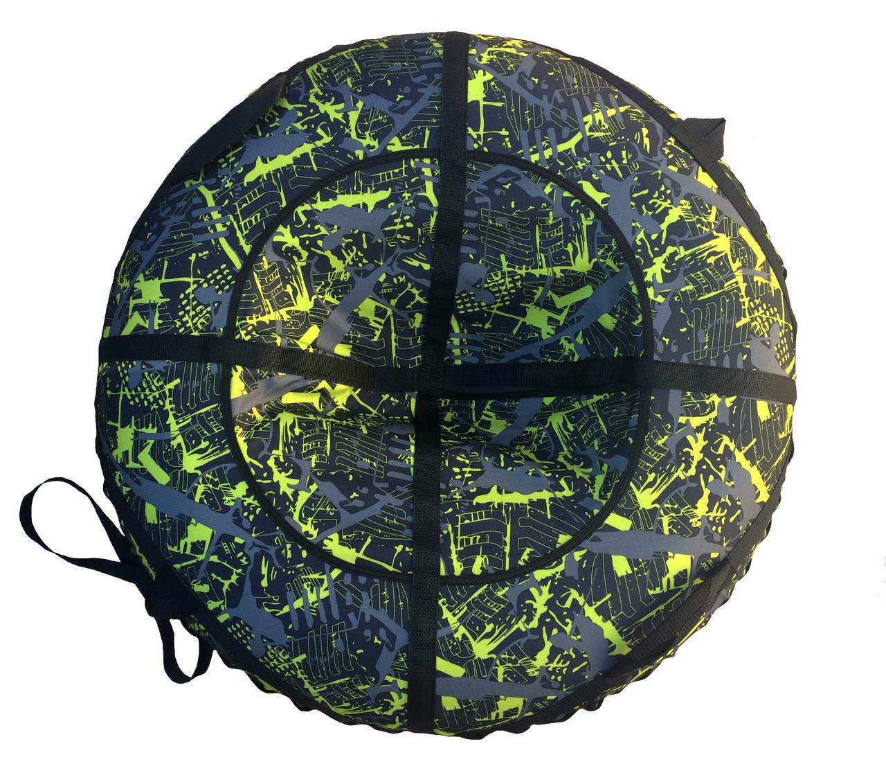 Тюбинг надувные санки Саламандра лимон 100см
