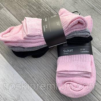Шкарпетки жіночі х/б махрова стопа House, Фінляндія-Туреччина, розмір 37-39, асорті, 01236