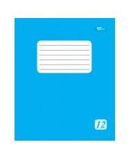 Тетрадь 12 листов, линия, голубая обложка