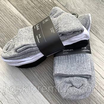 Шкарпетки жіночі х/б махрова стопа House, Фінляндія-Туреччина, розмір 34-36, асорті, 01231