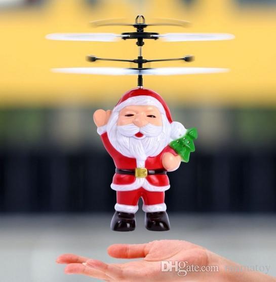 Игрушка Летающий Санта Flying Santa, летающий дед мороз, интерактивная игрушка