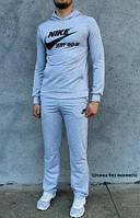 Спортивный мужской костюм светло серого цвета