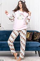 Пижама женская с повязкой в комплекте мягкий плюш 42,44,46,48 размеров