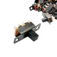 10x Переключатель движковый ползунковый SS12F15VG6 2пол 3pin тумблер (FD0203)