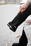 Женские Ugg Classic Short Black, женски угги, черные женски угги низкие, зимние женские угги, фото 9