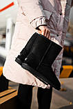 Женские Ugg Classic Short Black, женски угги, черные женски угги низкие, зимние женские угги, фото 8