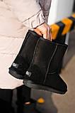 Женские Ugg Classic Short Black, женски угги, черные женски угги низкие, зимние женские угги, фото 7