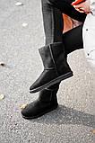 Женские Ugg Classic Short Black, женски угги, черные женски угги низкие, зимние женские угги, фото 5