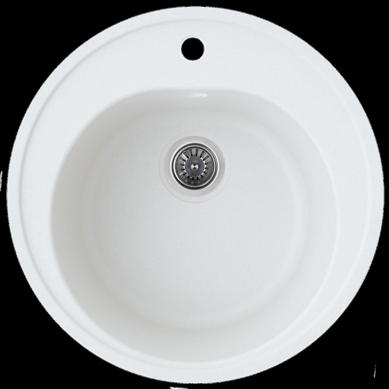 Гранитная мойка Platinum LUNA 510 матовая белоснежный