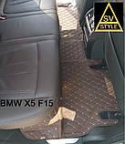 Коврики BMW X6 F16 Кожаные 3D (2014-2019) с текстильными накидками, фото 5