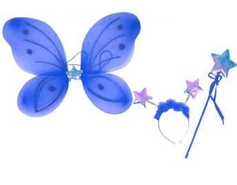 """Карнавальный костюм """"Бабочка звёздочка"""" (голубой) 0900-126"""