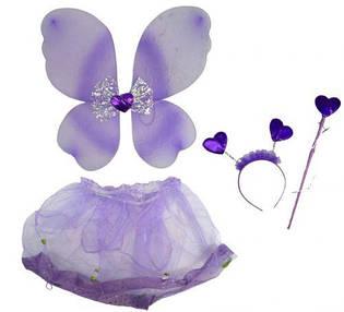 """Карнавальный костюм """"Бабочка с бантиком"""" (фиолетовый) 6098-5_F105"""