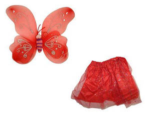 """Карнавальный костюм """"Бабочка с большими крыльями"""" (красный) 0900-125"""