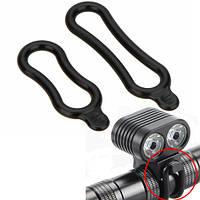 2x Монтажное резиновое кольцо для фонаря, фары велосипеда (FD0304)