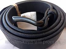 Кожаный ремень ручной работы, цвет черный (30 см), фото 3