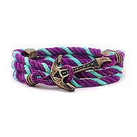 Браслет с якорем MARITIME Violet Sky Мятно-фиолетовый (mt1226)