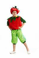 Детский карнавальный костюм для мальчика «Помидор» 110-120 см, красный, фото 1