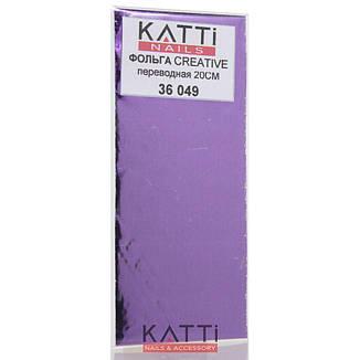KATTi фольга переводная 36049 металлик очень темная фиолетовая 20см, фото 2