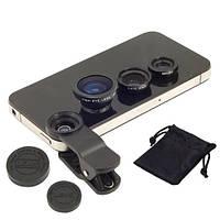 3в1 фишай, широкоугольная, макролинза для телефона (FD0352)