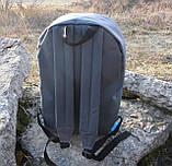 Стильный рюкзак NIKE (Найк). Серый с голубым., фото 5