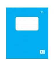 Тетрадь 12 листов линия эконом класса + голубая обложка