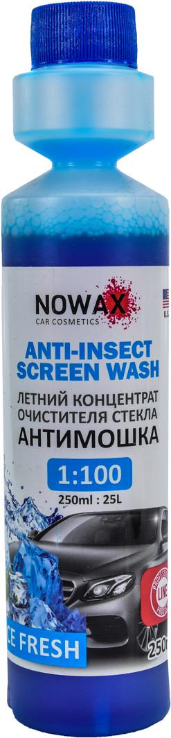 Концентрат омивача Антимошка Nowax Anti-Insect Sreen Wash річний свіжість 0,25 л