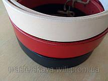 Кожаный ремень ручной работы, цвет телесный(30 см), фото 3